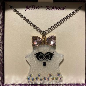 Betsey Johnson Ghost Pendant Necklace